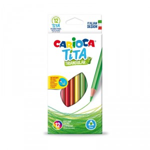 Trojhranné školní pastelky Tita 12 ks