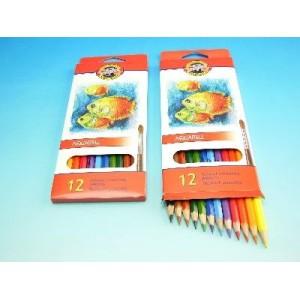 Akvarelové pastelky 12 ks Ryby