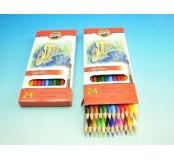 Akvarelové pastelky 24 ks Ryby