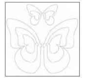 Vyřezávací šablona - tvar motýl