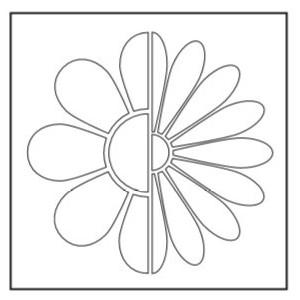 Kreativní šablona - květina