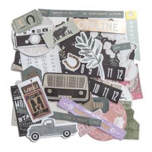 Scrapbookové papíry různých tvarů, 142 ks