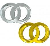 Konfety - zlaté a stříbrné svatební kroužky