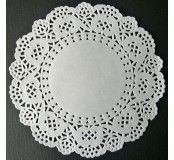 Dekorace - papírová krajka pr. 12,5 cm