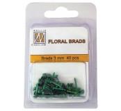 Dekorační mini hřebíčky tmavě zelené
