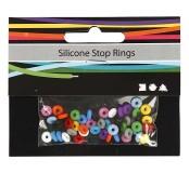 Silikonové kroužky - barevný mix