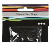Silikonové kroužky - černé