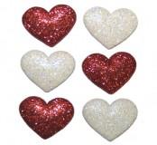 Dekorační knoflíčky Heart strings