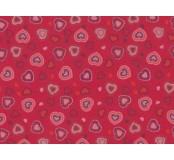 Moosgummi - pěnovka  červená, srdíčka