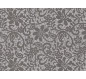Moosgummi - pěnovka  potisk krajka šedá