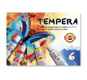 Temperové barvy - 6 barev