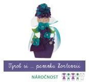 Vyrob si panenku fialovou Hortenzii