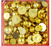 Ozdobné kamínky 10 g - půlperly zlaté