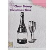 Gelové razítko - šampaňské