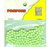 Pompony mini 3mm, 100ks, sv.zelená