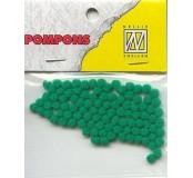 Pompony mini 3mm, 100ks, zelená
