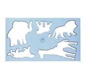 Plastová šablona zvířata IV