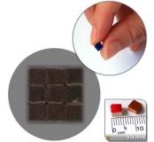 Mozaika z keramiky 5 x 5 mm - čokoládová hnědá