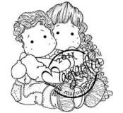 Razítko Magnolia -Cuddly Siblings