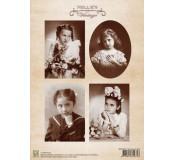 Dekorační papír Vintage Girl