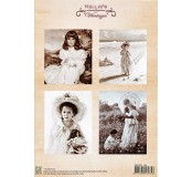 Dekorační papír Vintage Girl 1