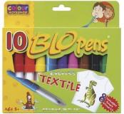 Foukací fixy na textil 10 ks