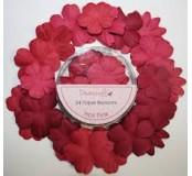 Papírové květy - tmavá růžová, 24 ks