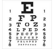 Plastová šablona - Mini Eye Chart, 15 x 15 cm