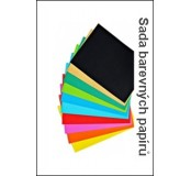Barevné papíry 80g/m2 A4, 10x10 listů