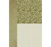 Potištěný oboustranný papír A4 Green Snowflakes