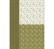 Potištěný oboustranný papír A4 Green Ornaments