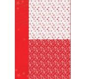 Potištěný oboustranný papír A4 Red Ornaments