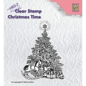 Gelové razítko - vánoční strom