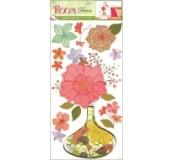 Samolepka na zeď - květinová váza