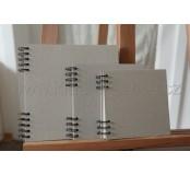Kroužkový blok scrapbook 21x21 cm