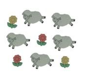 Dekorační knoflíčky Counting sheep