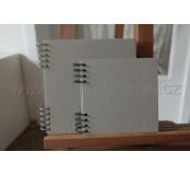 Kroužkový blok recyklovaný 17x17 cm