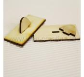 Držátko pro razítko, obdélník 3 x 6 cm