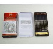 Tužky grafitové profesionální, sada  8B - 2H