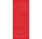 Samolepicí abeceda - červená