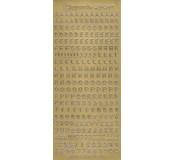 Samolepicí abeceda - zlatá