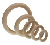 Dřevěný kroužek 46 x 8 mm