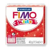 Fimo kids modelovací hmota 42 g - červená se třpytkami