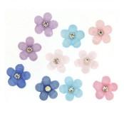 Dekorace k nalepení Sparkle Flowers