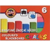 Barevné školní křídy 6 ks