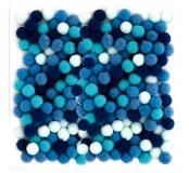 Dekorační pompony 10  mm, 120 ks, modrý mix