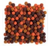 Dekorační pompony 10  mm, 120 ks, hnědý mix