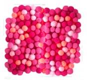 Dekorační pompony 10  mm, 120 ks, růžový mix