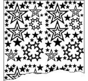 Samolepka stříbrné hvězdy