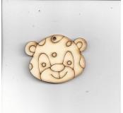 Tygr malý hlava 3,3 x 4,5 cm
